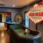 recreation of a casino using nashville casino event party rental services