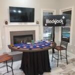 blackjack casino table for a casino event in Nashville
