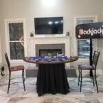 blackjack carnival game table for casino party in nashville tn